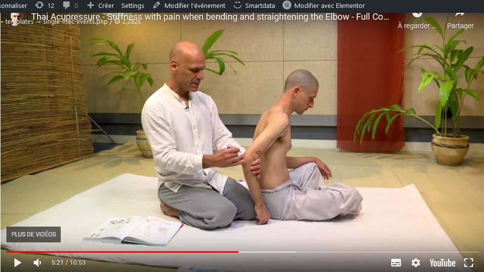 Formation acupression thaie