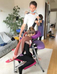 pratique massage assis